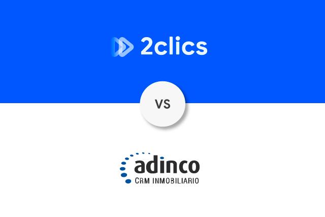 2clics vs adinco crm inmobiliario